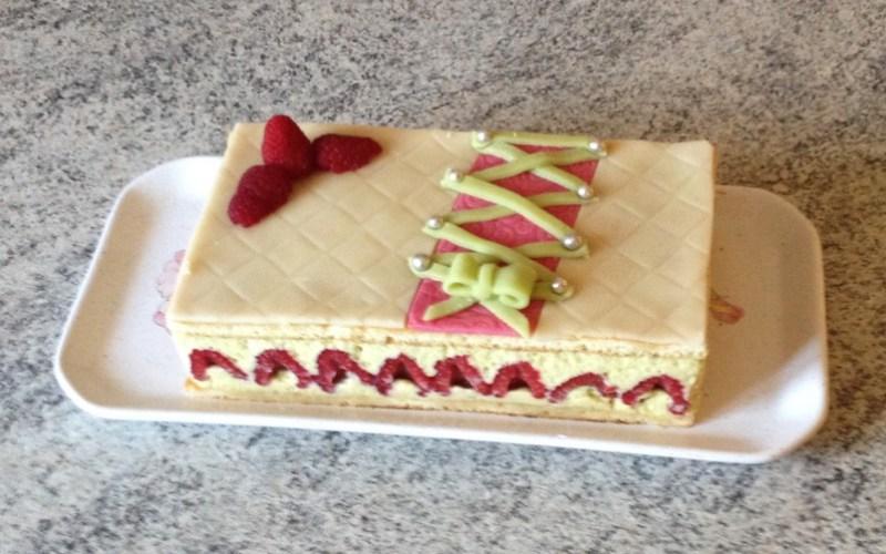 framboisier pistache 3 - Zebra cake vanille-chocolat (Gâteau zébré / tigré)