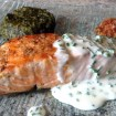 Recette de Pavé de saumon grillé à la crème de ciboulette