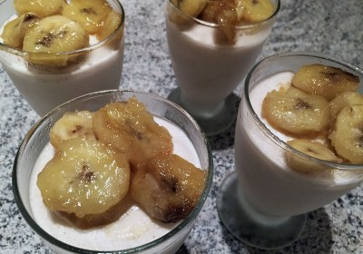 Glace légère au yaourt et à la banane