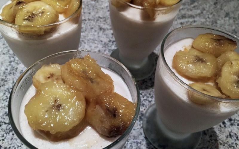 glace legere yaourt banane 2 - Zebra cake vanille-chocolat (Gâteau zébré / tigré)