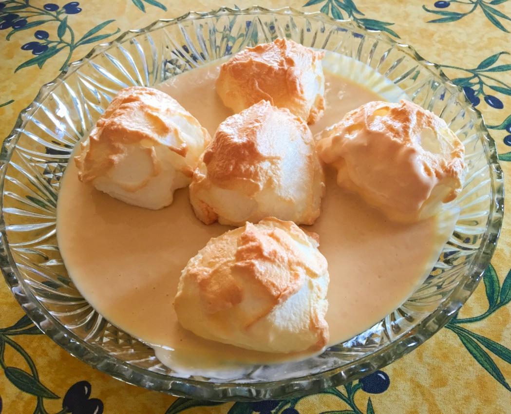 ile flottante prepa 4 - Îles flottantes au caramel au beurre salé