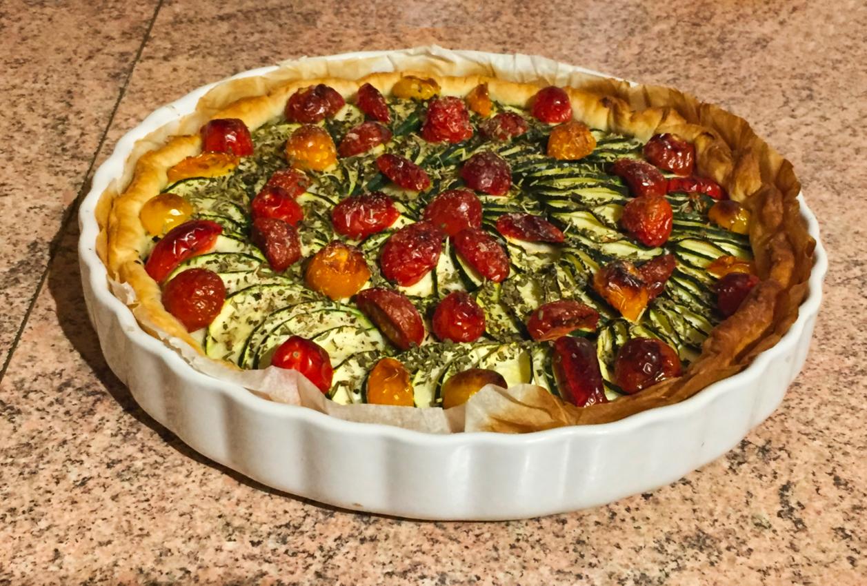 tarte chevre courgettes tomates lardons 1 - tarte-chevre-courgettes-tomates-lardons-1