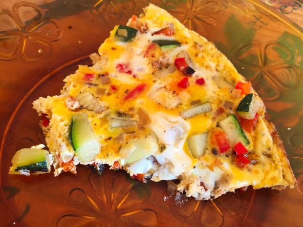 """omelette courgette poivron 1 - On a testé : Le découpe légumes """"Nicer Dicer"""""""