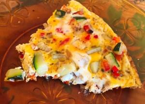 omelette courgette poivron 1 - Omelette courgette, oignon, poivron