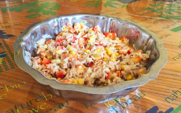 salade riz thon mais poivron 2 - Dossier : Barbecue & Salades !