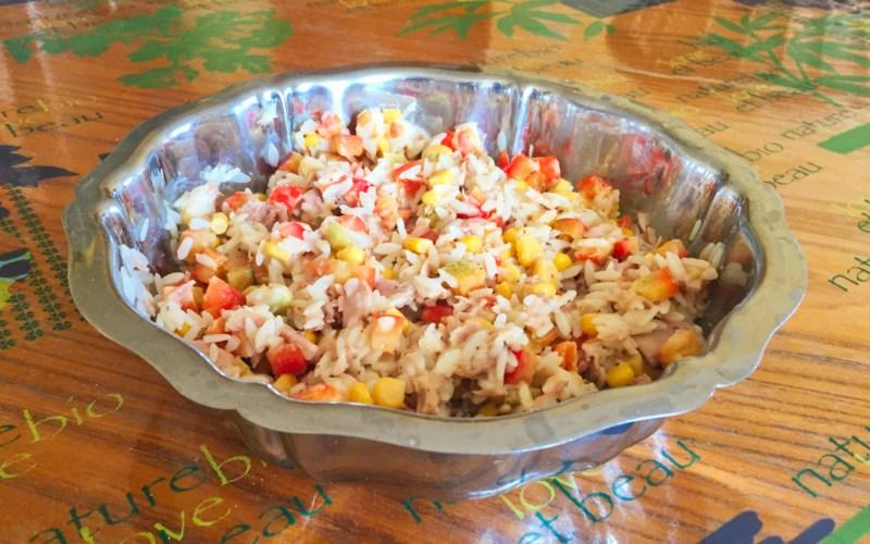 salade riz thon mais poivron 2 - Zebra cake vanille-chocolat (Gâteau zébré / tigré)