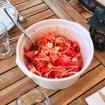 salade tomates oignons feta 1 - Salade de riz au thon, maïs et poivron