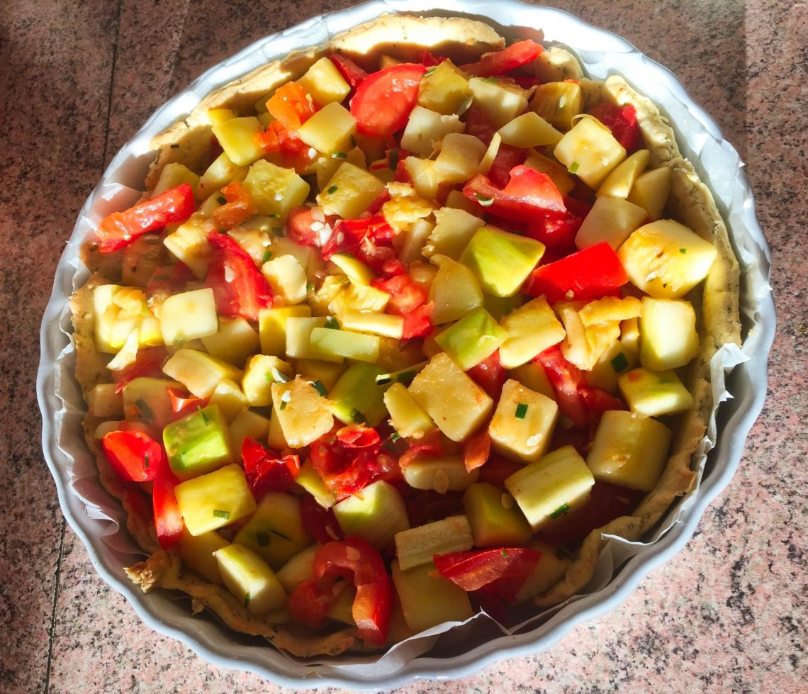 IMG 0697 - Tarte Courgettes, tomates, chèvre