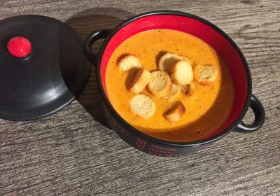 IMG 1334 - Velouté de tomates basilic et chèvre (Recette Companion)