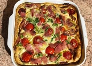IMG 2095 - Clafoutis au chèvre, poivrons, jambon, tomates