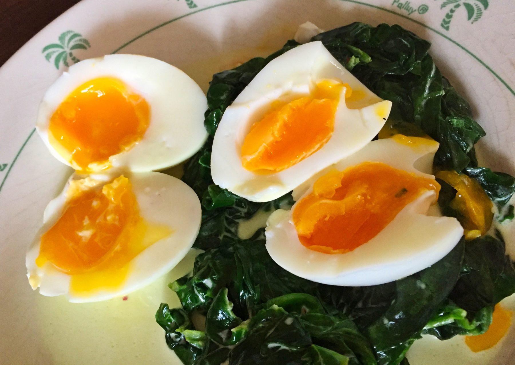 IMG 3123 - Épinards à la crème et oeufs mollets