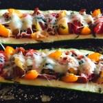 IMG 3851 - Courgettes au chorizo façon pizza
