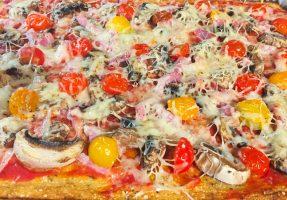 IMG 3570 - Pizza et sa pâte au chou-fleur (sans farine)