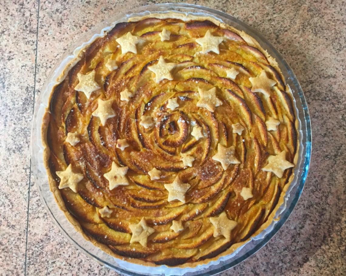 IMG 4273 - Tarte aux pommes étoilée