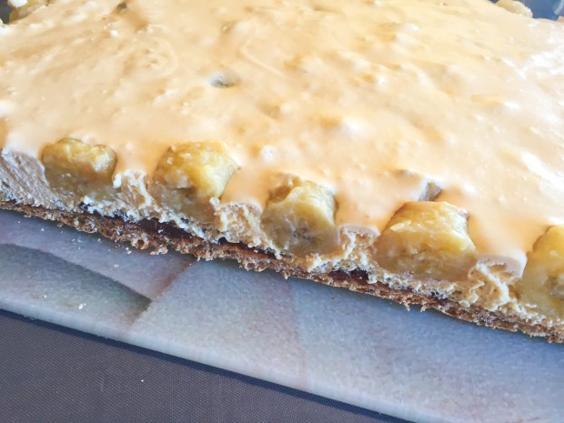IMG 4924 620x465 - Gondolier - Gâteau banane, noisette confiture de lait