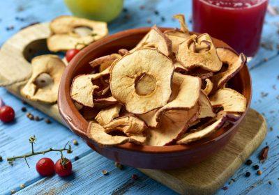 pommes seches - Pommes séchées au déshydrateur