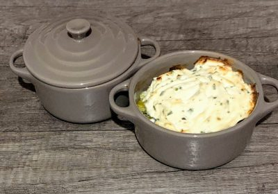 IMG 9871 scaled - Cassolettes poireau, jambon et chèvre