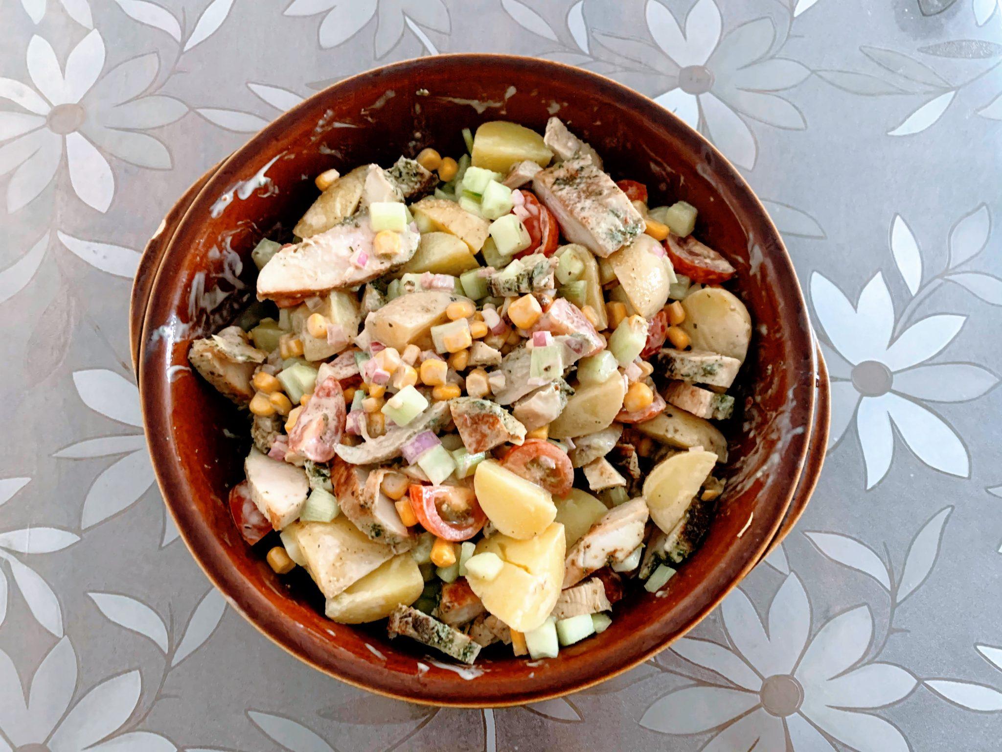 IMG 1974 scaled - Salade de grenailles & poulet aux épices méditerranéennes