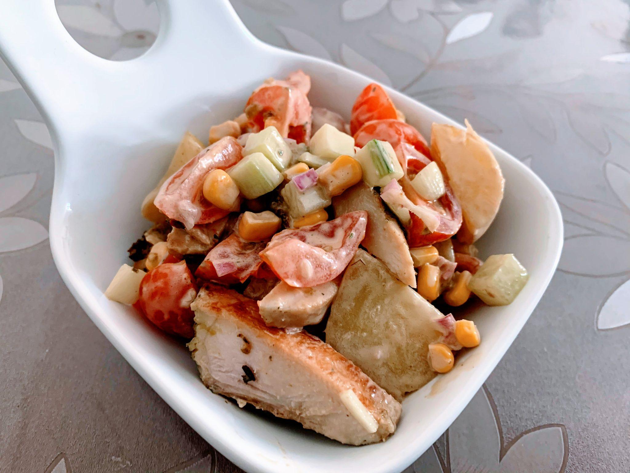 IMG 1976 scaled - Salade de grenailles & poulet aux épices méditerranéennes
