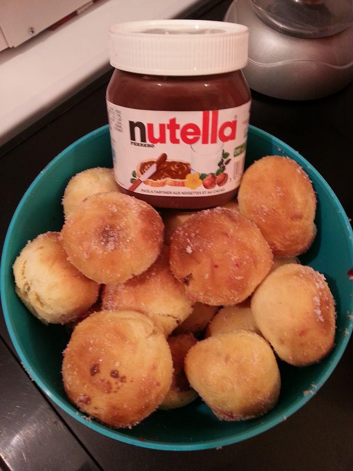 beignets fourres au nutella ou confiture cuisson four sihnoh