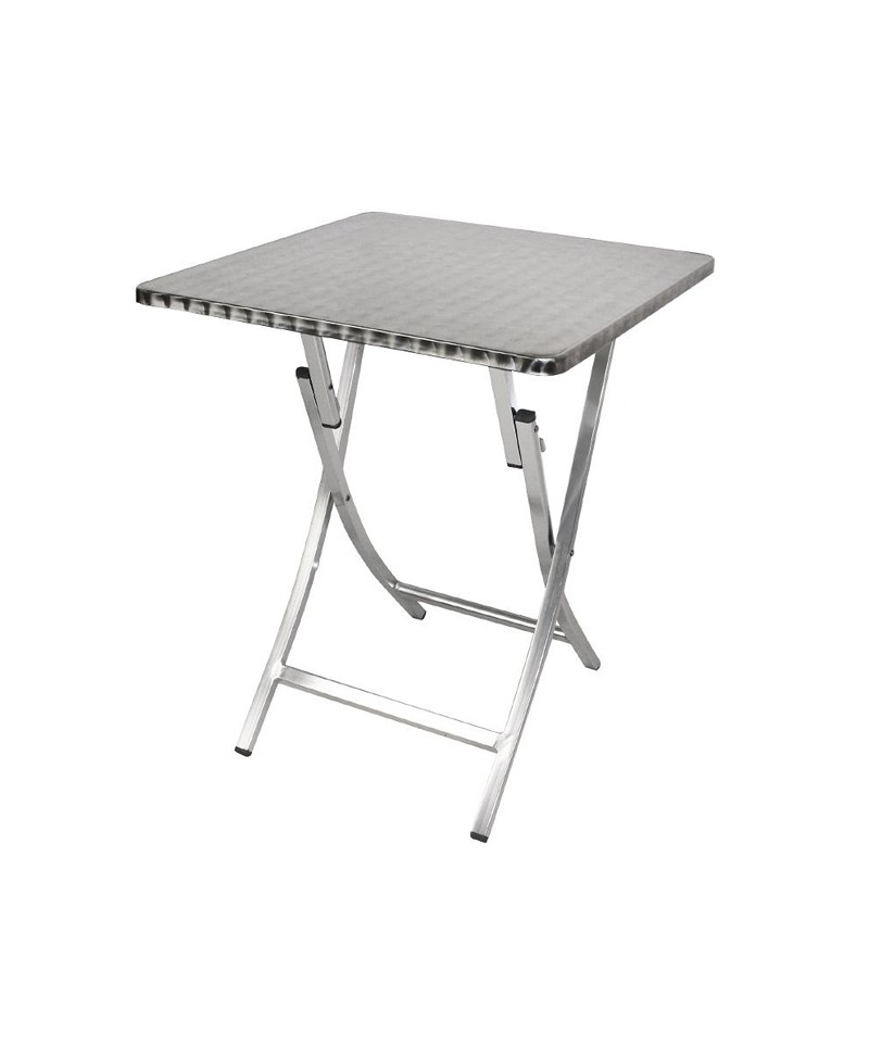 table carre pliante en aluminium bolero