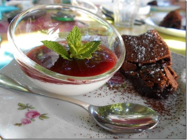 Agar-agar Panna cotta coco fraise