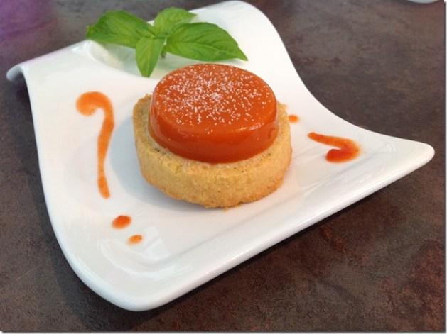Gélification tomates basilic