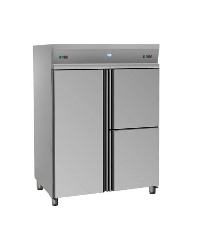cuisineprodiscount armoire refrigeree positive 1400 litres gn2 1 inox 3 portes materiel de cuisine professionnel
