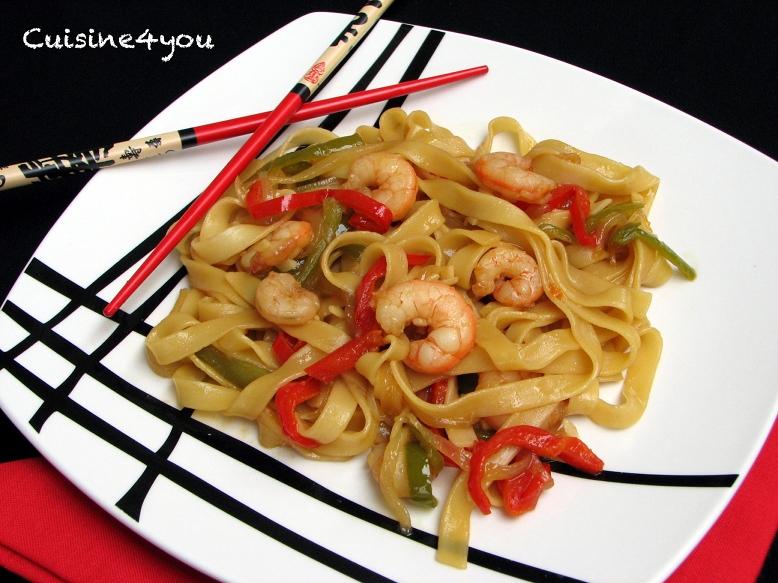 Tallarines Orientales Con Gambas Cuisine4you
