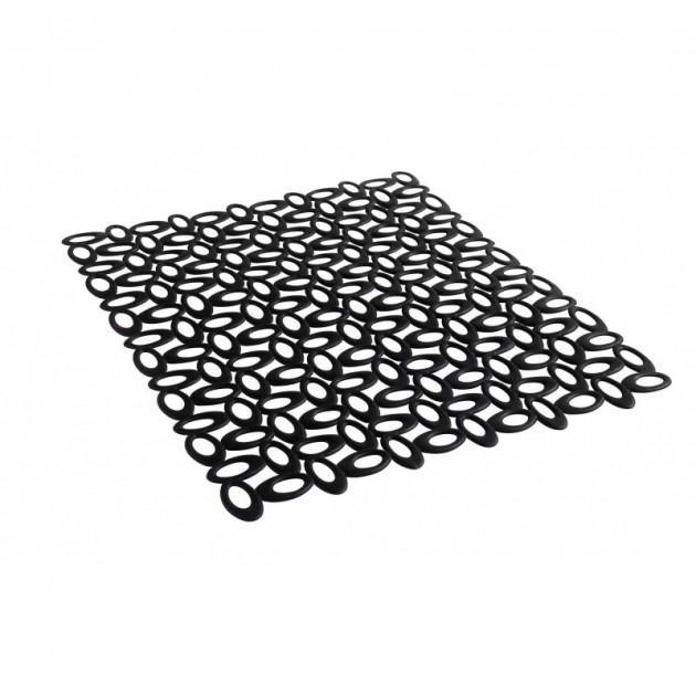 tapis d evier noir forme dentelle mastrad