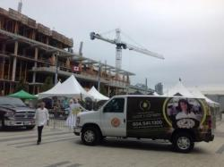 Harvest Fair near City Hall,  Surrey Library and the New Marriott Hotel under construction