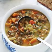 Soupe au chou et aux deux haricots (soupe paysanne avec ou sans viande)