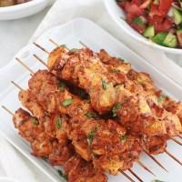 Brochettes de poulet au paprika et aux herbes