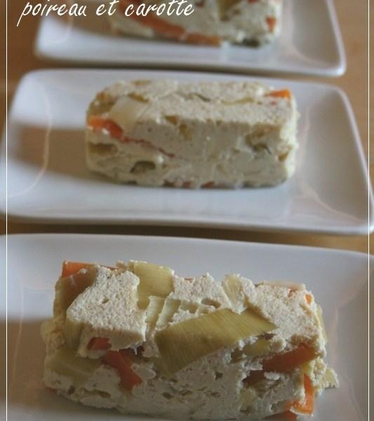 Terrine de volaille au tofu soyeux, poireau et carotte (recette Vitasaveur)