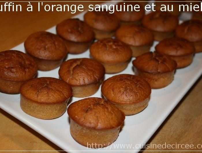 Muffin à l'orange sanguine et au miel