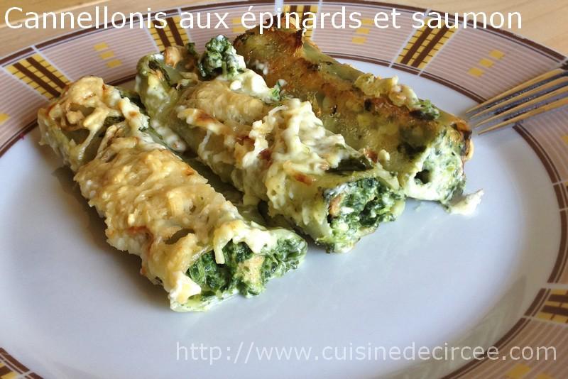 Cannelloni aux épinards et saumon