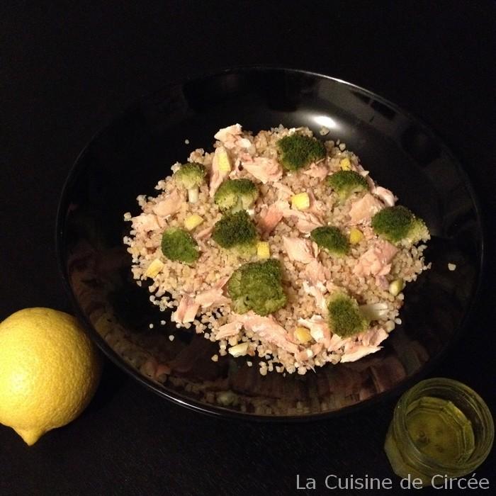 Salade de quinoa, brocolis et saumon à la vinaigrette au citron au Vitasaveur