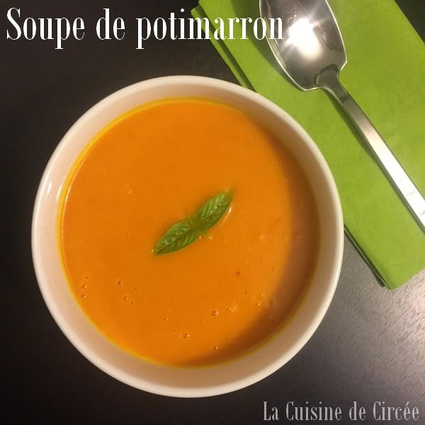Soupe de potimarron (recette Cookeo)