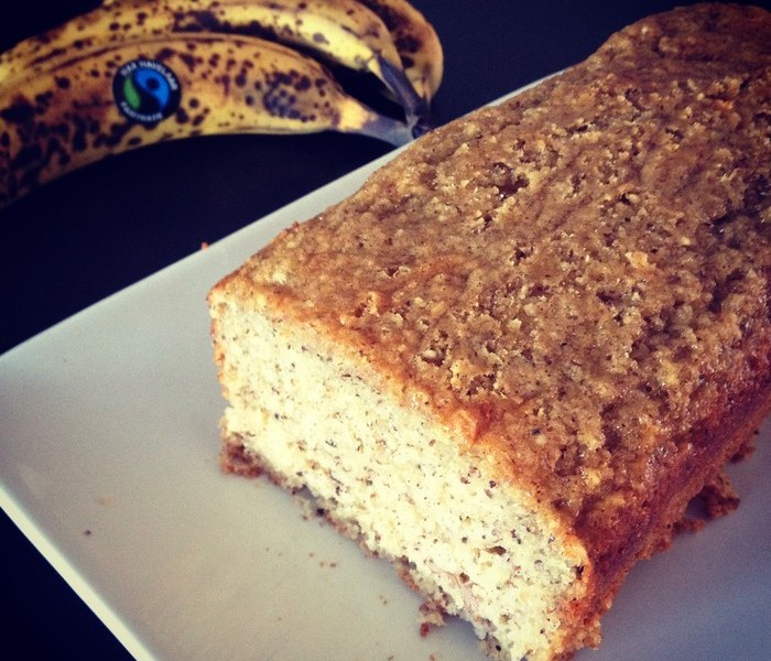 Cake à la banane et à la noisette (sans beurre)