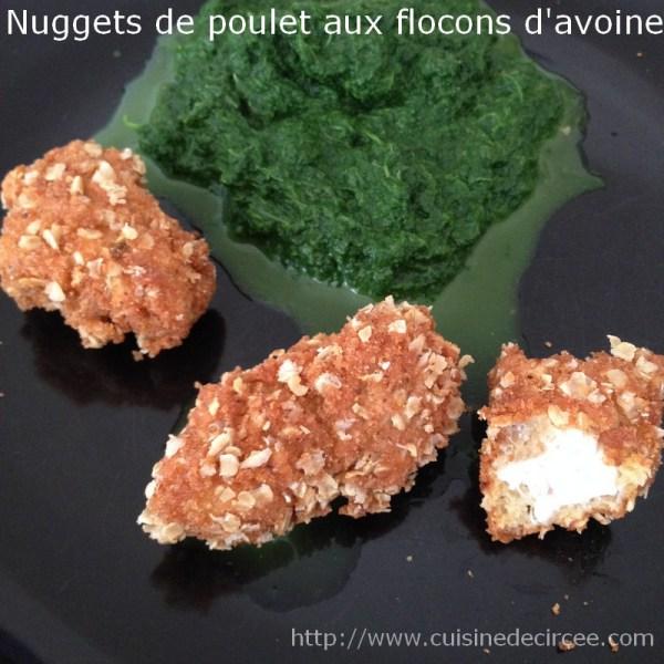 nuggets de poulet aux flocons d'avoine 06