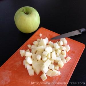 salade de lentilles aux lardons et pomme verte 02