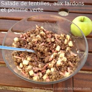 salade de lentilles aux lardons et pomme verte 05