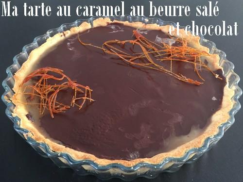 Ma tarte au caramel au beurre salé et chocolat