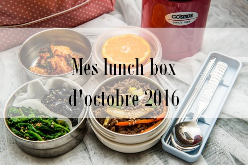 Mes lunch box d'octobre 2016