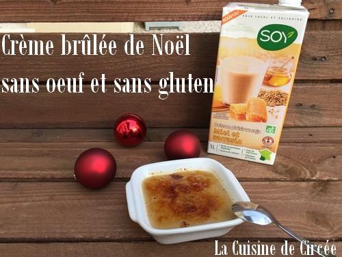 Crème brûlée de Noël sans oeuf et sans gluten