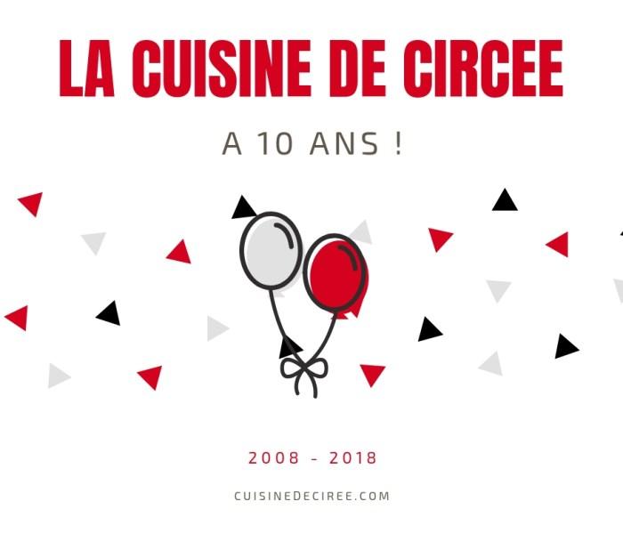 Mon blog de cuisine a 10 ans !