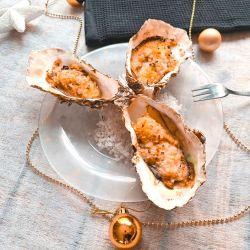 Huîtres gratinées au citron