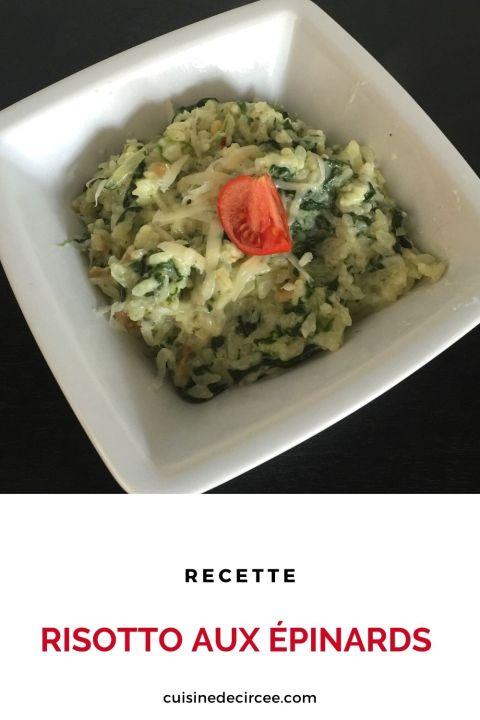 risotto aux épinards