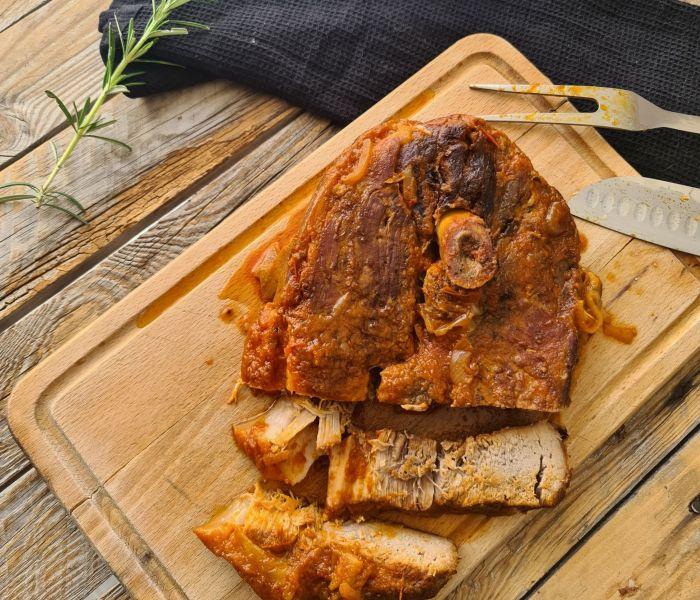 La rouelle de porc mijotée en cocotte, un vrai plat familial