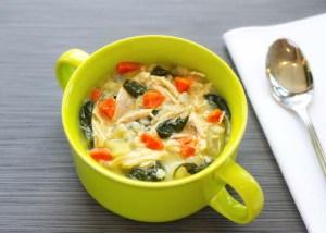 Lemony Spinach & Chicken Cream Soup